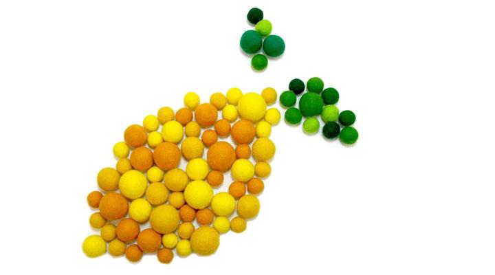 Filzkugeln – Gelbe Phase
