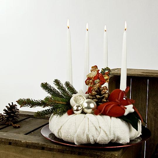 Adventskranz Weihnachtsabend - Ein Homage an das Weihnachten früherer Kindertage.