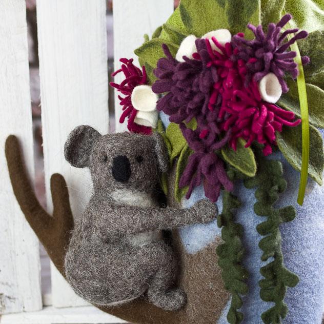 Schultüte | Koala sitzend im Baum. Filzdesign von Doris Niestroj, handgefertigt.