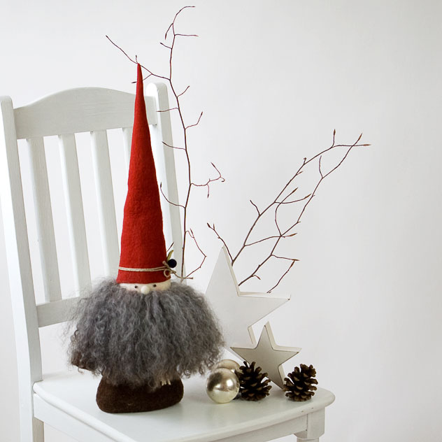 "Handgefertigte Weihnachtsdekoration aus Filz ""Nikolaus – Tomte – Wichtel"". Doris Niestroj | Filz & Form."