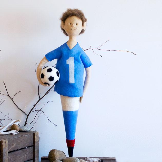 Schultüte | Fussball. Handgefertigt - Filzdesign Doris Niestroj.