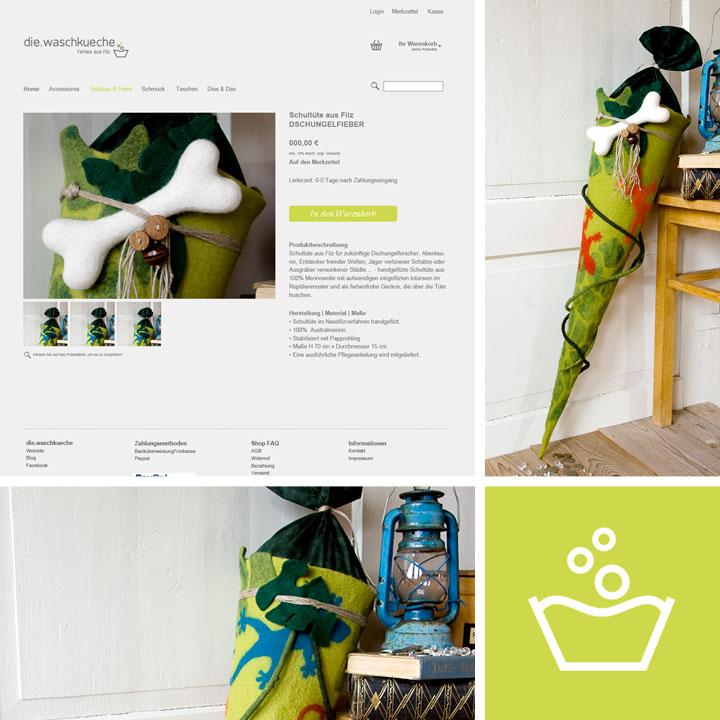 Onlineshop Produktseite die.waschkueche. Doris Niestroj Filz & Form.
