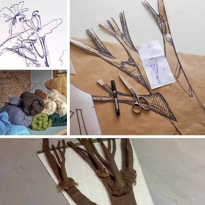 Entwürfe zur Schultüte Giraffe | Doris Niestroj - Filz & Form
