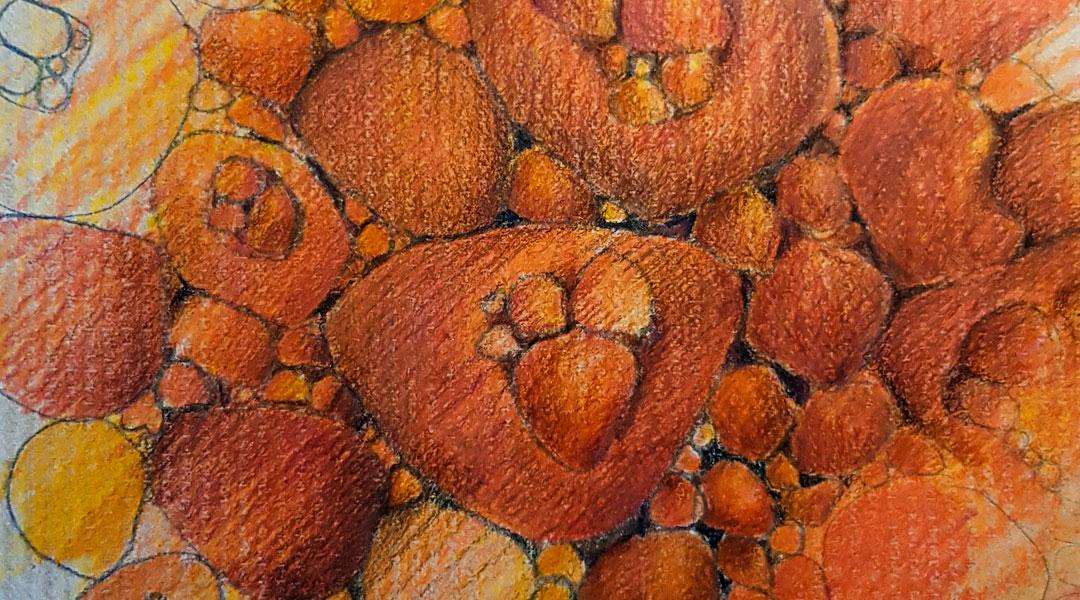 Entwurf eines gefilzten Teppich.